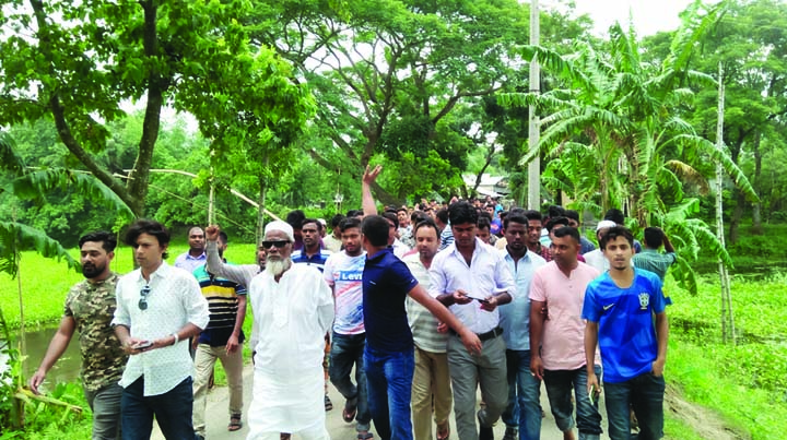 JAMALPUR: A rally was held protesting shifting of Science and Technology University to Melandah Upazila recently.