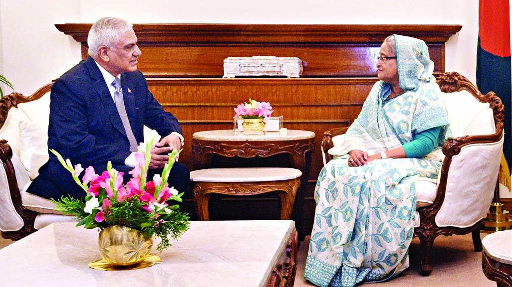 Newly -appointed Nepalese Ambassador Dr Chop Lal Bhusal called on Prime Minister Sheikh Hasina at her office yesterday.