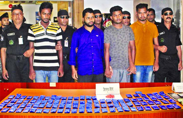 Four drug traders were arrested by RAB-3 with about 20,000 Yaba tablets in a drive from city's Uttara area on Sunday.