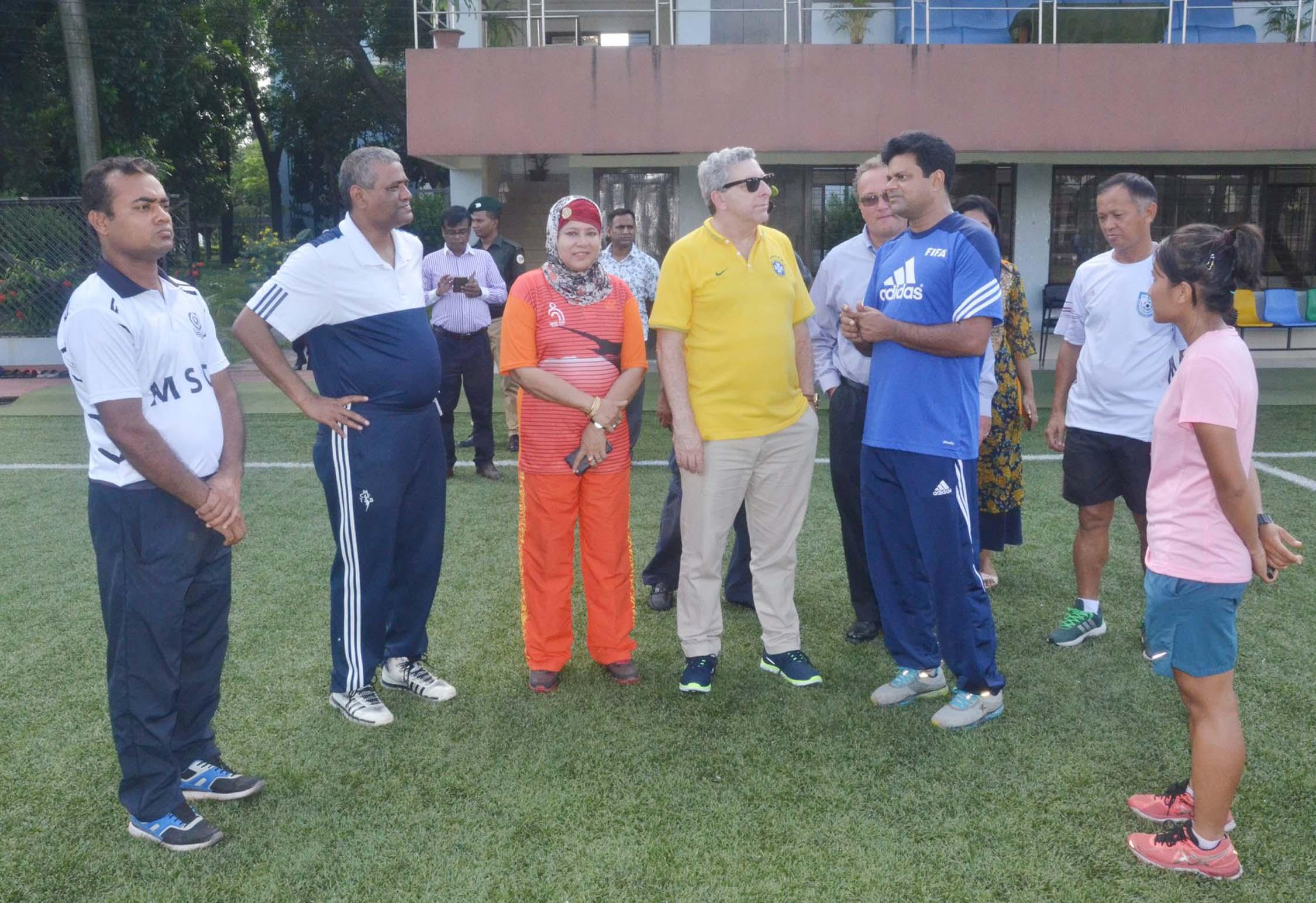 Brazilian Ambassador to Bangladesh Joao Tabajara de Oliveira Junior visits BKSP in Savar on Wednesday.