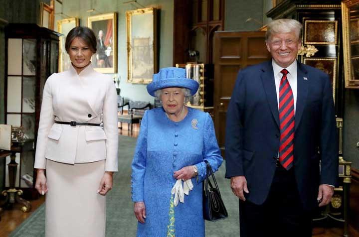 Donald Trump meets Queen Elizabeth at Windsor Castle