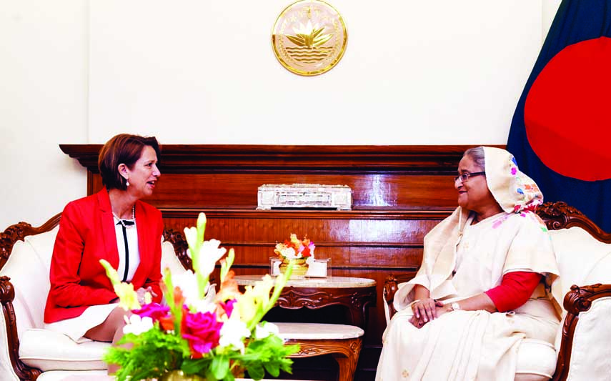 Secretary General's Special Envoy on Myanmar Ms. Christine Schraner Burgener called on Prime Minister Sheikh Hasina at the latter's office on Monday.