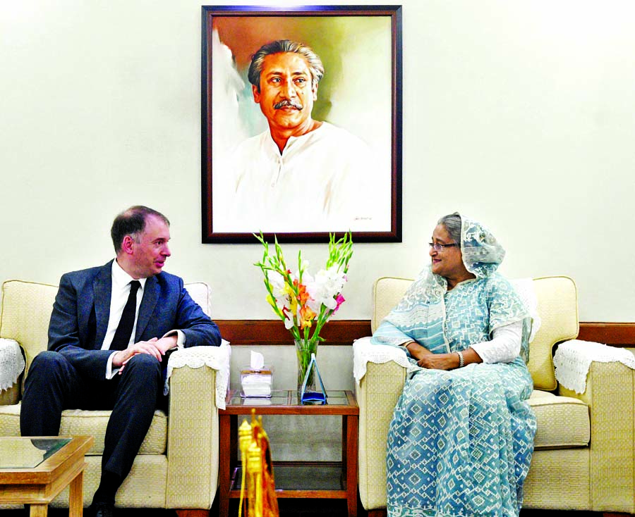 State Minister for Foreign Affairs of Germany Niles Annen paid a courtesy call on Prime Minister Sheikh Hasina at Ganabhaban on Thursday.