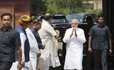 Parliament debates no-confidence motion against Modi`s govt