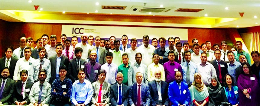 Chittagong Chamber of Commerce & Industry President Mahbubul Alam is seen posing with participants at a certificate distribution programme of