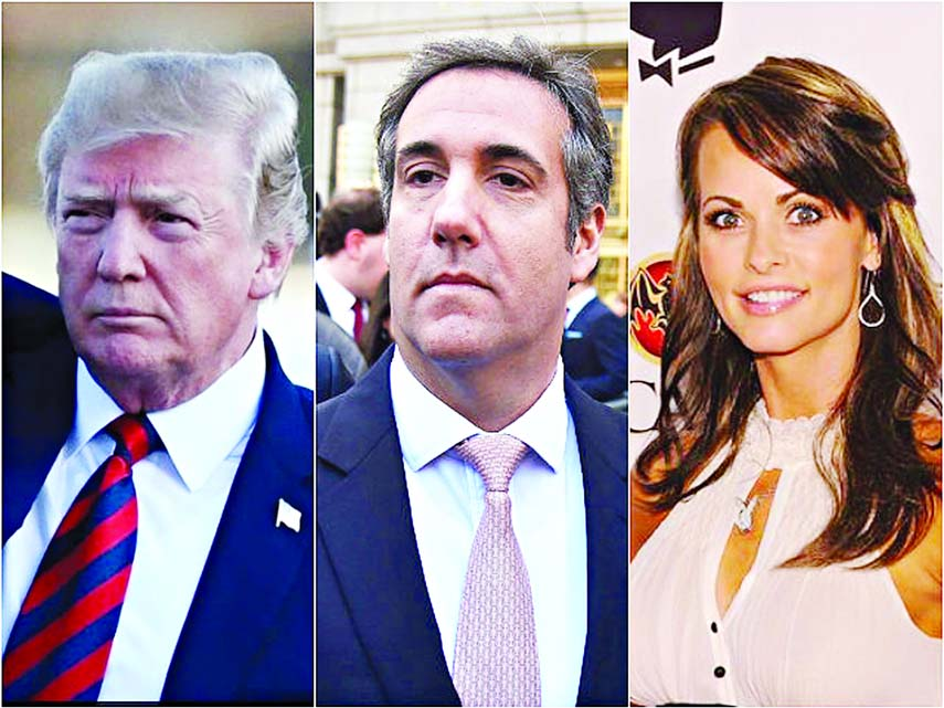 Trump attacks Cohen over 'Playboy model payment tape'