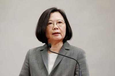 No one can 'obliterate' Taiwan's existence, President says on departure for US