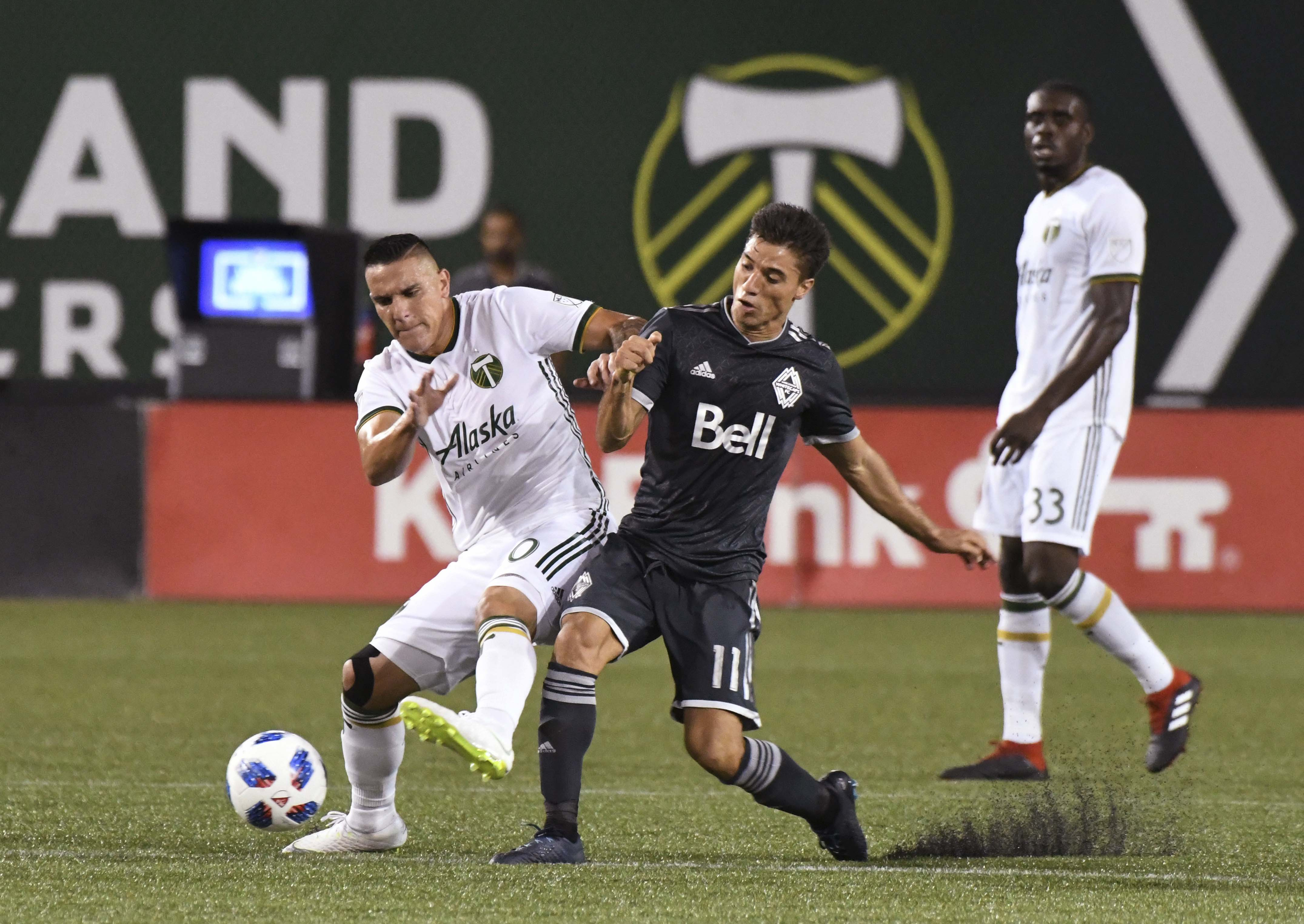 Vancouver snap Portland's unbeaten run with 2-1 victory