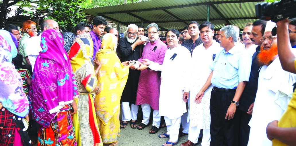 National Bank Ltd and Z.H. Sikder Women's Medical College & Hospital, arranged special prayer and feeding of destitute people on the occasion of the 43rd death anniversary of Bangabandhu Sheikh Mujibur Rahman held at Sikder Medical College premises on Wednesday.