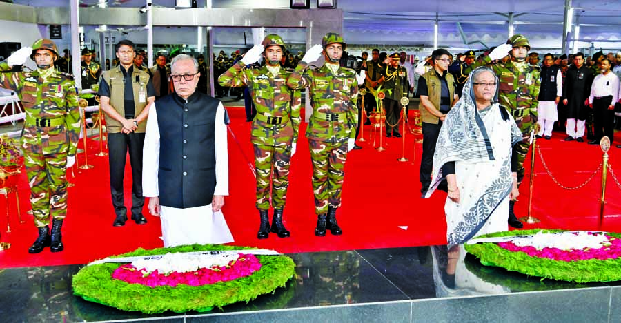 Homage paid to Bangabandhu