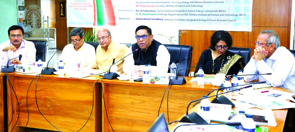 Nasrul Hamid, State Minister for Power, Energy and Mineral Resources, addressing the seminar on