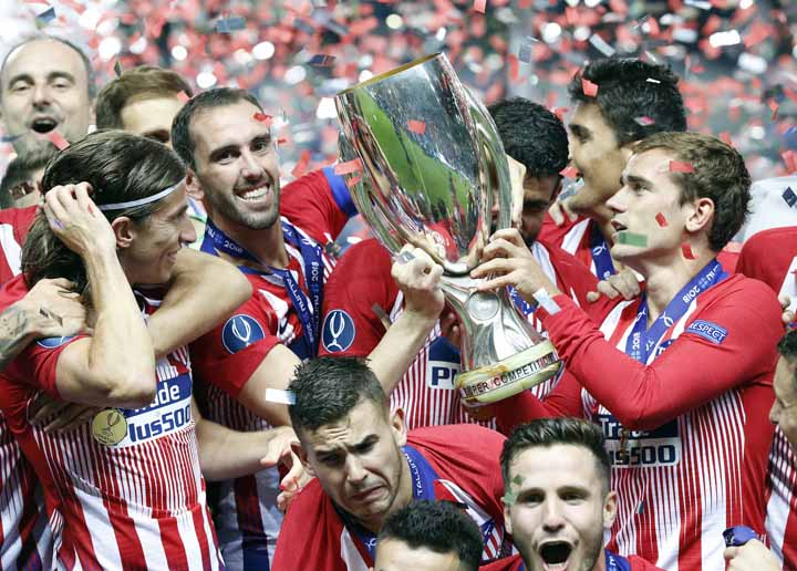 Atletico beat Real Madrid 4-2 after extra time in Super Cup