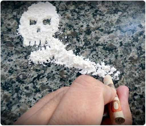 Controlling cocaine abuse with elevated bile acid levels