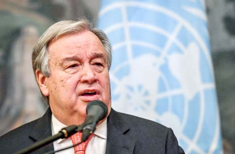 UN chief suggests options for improved Palestinian protection