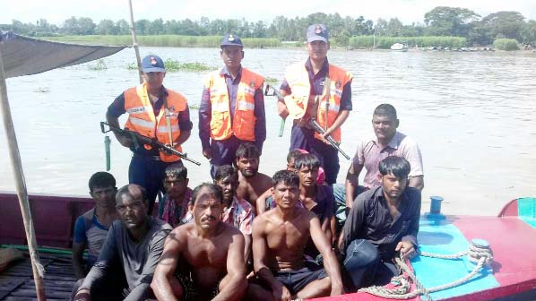Members of Coast Guard recovered  10 persons of trawler  capsised from Gojari area yesterday.