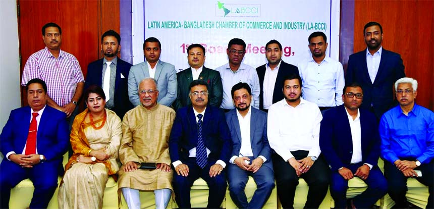 Md. Anwar Shawkat Afser, President of Latin America-Bangladesh Chamber of Commerce & Industry (LA-BCCI), attended its 1st Board of Directors Meeting at the Pan Pacific Sonargaon Hotel in the city on Tuesday. Rezaul Haq Chowdhury Mushtaq, Senior Vice-President, Hashan Mahmood Chowdhury, Jakaria Shahid, Mohammad Khurshid Alam, AKM Shamsuzzaman, Vice-Presidents and others director of the organization were also present.