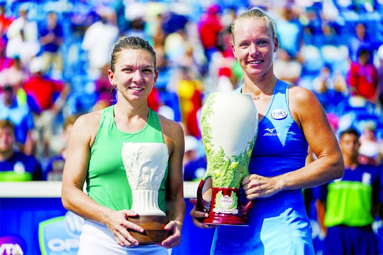 Kiki Bertens upsets Simona Halep to win title