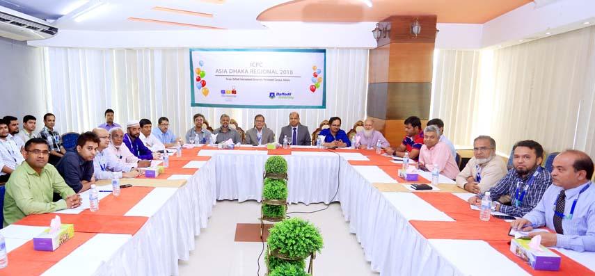 DIU hosts ACM-ICPC 2018 Asia Regional Dhaka Site