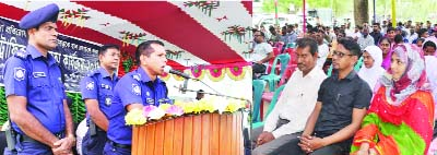 RAJSHAHI: Shohidulla, SP, Rajshahi  speaking at an awareness programme organised by District Traffic office recently.  Charghat Model Thana OC Nazrul Islam presided over  the function. Charghat UNO Asraful Islam, Additional SP Motiur Rahman, SASP Nur- Alom, Abudl Razzak, AL president Anower Hossien, Joint Secretary Shahazuddin were present in the occasion.