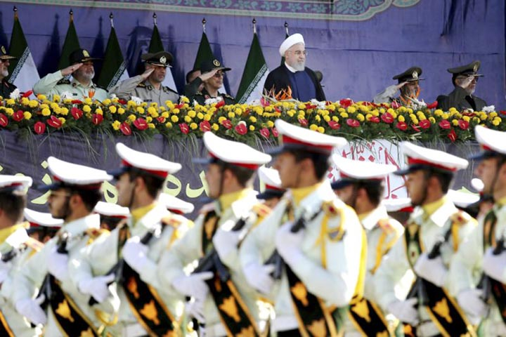 Iran's President blames US after attack on military parade