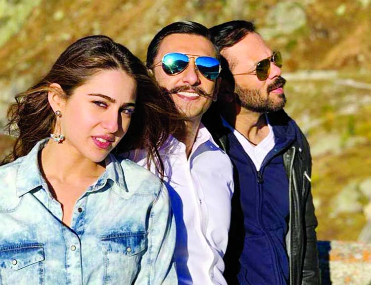 Ranveer-Sara soak up the Swiss Sun with Rohit Shetty