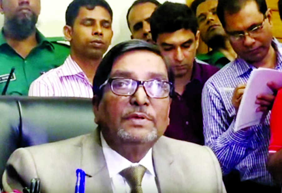 Mahbub walks out of EC meet again on protest