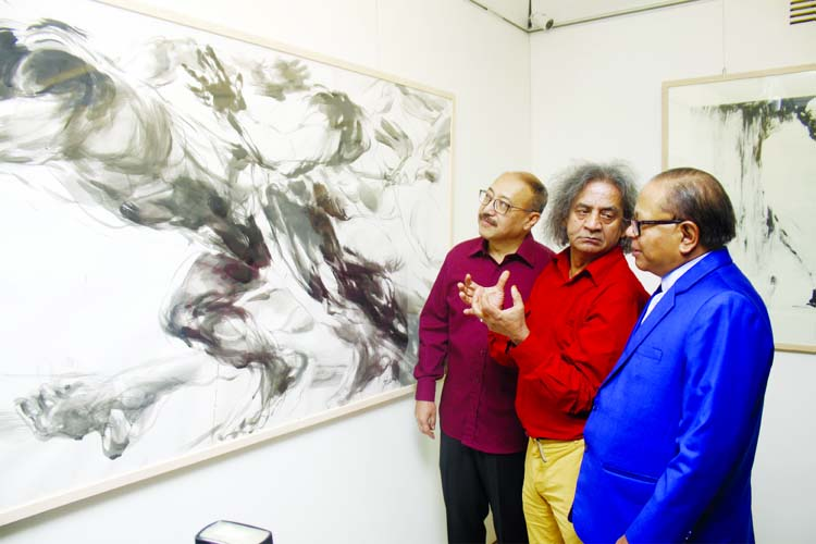 Shahabuddin's solo exhibition at 'Creative the Art Gallery'