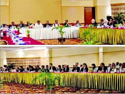 Oikya Front leaders  brief foreign diplomats on  polls issue