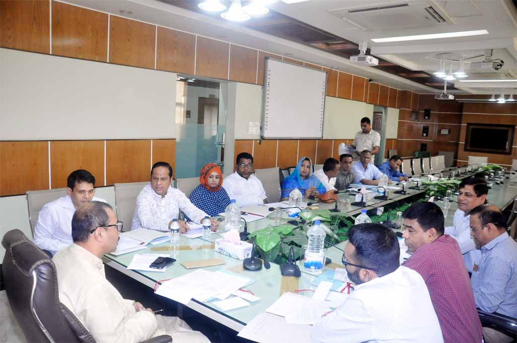 CCC Mayor AJM Nasir Uddin speaking as Chief Guest at the standing committee meeting of the Chattogram City Corporation yesterday