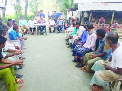 BETAGI (Barguna): Betagi Fisheries Office and District Administration arranged a meeting with fishermen to maintain hilsa ban at Fultola Village on Saturday.  Md Mustafa Al- Rajib, Upazila Fisheries Officer  presided over the meeting.