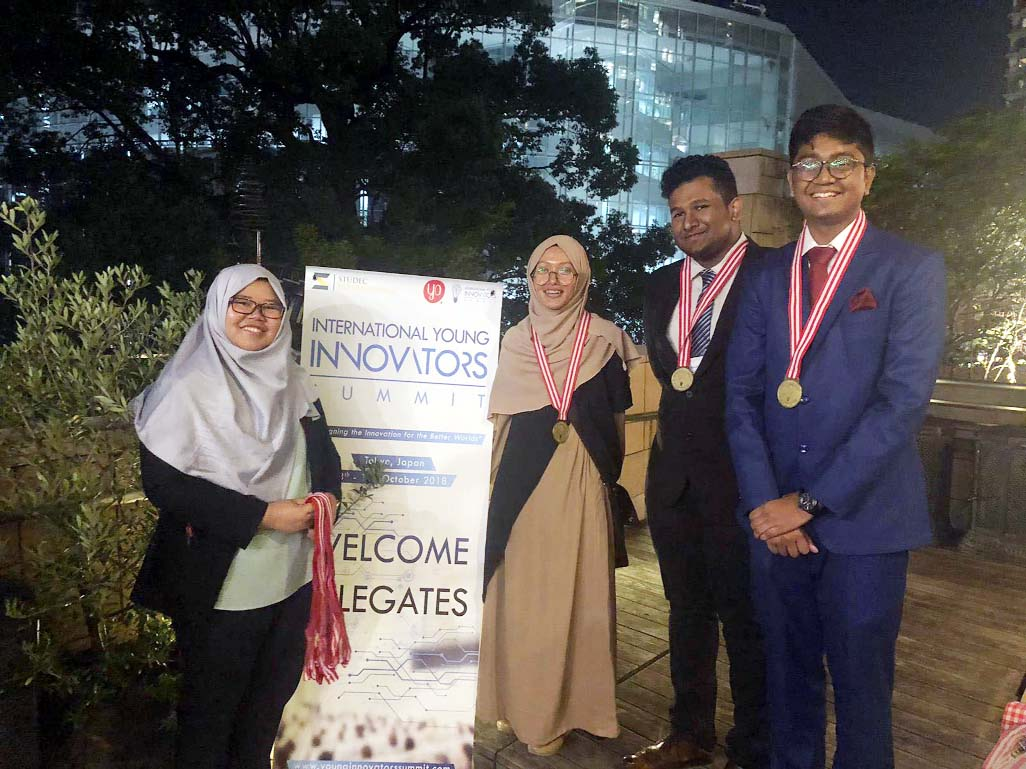 BD students win innovation award in Japan
