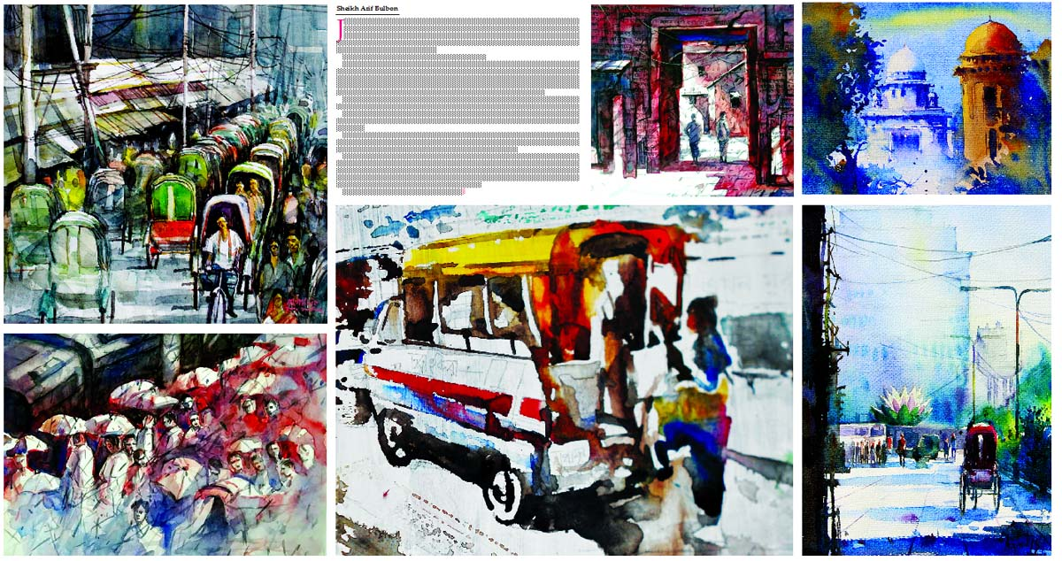 Group painting exhibition, Joloj 4 (Aquatic 4) - 'Street of Dhaka'
