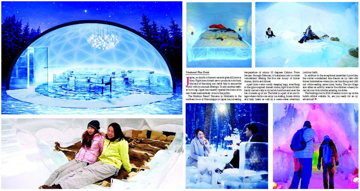 Looking for a 'cool' destination? This resort in Japan is made entirely of ice
