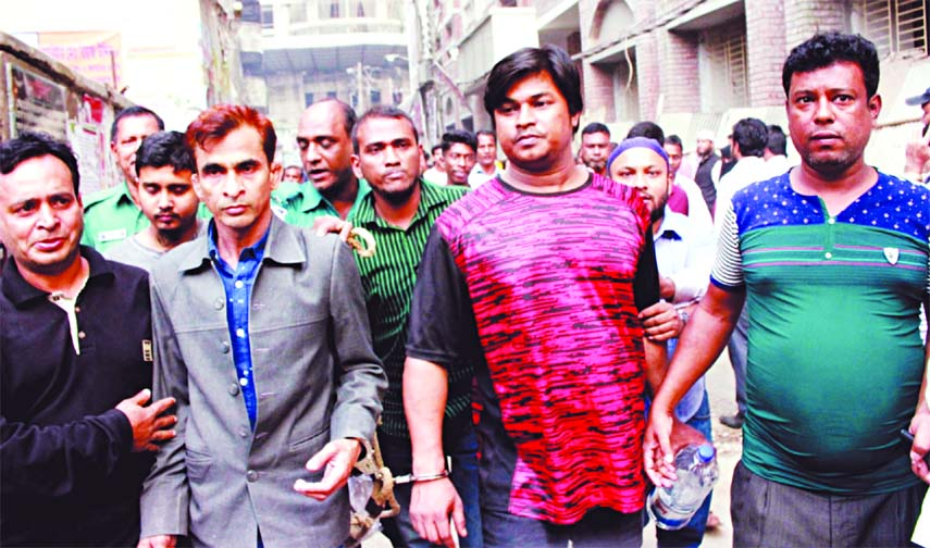 BNP leaders and activists who were arrested from in front of Naya Paltan office for their alleged involvement in clashes with police being produced before the CMM Court on Thursday.