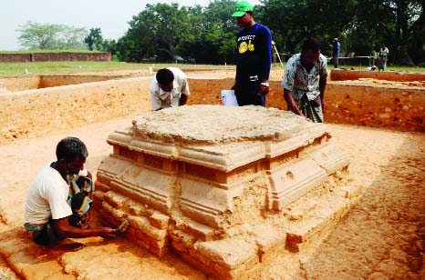 BOGURA: Archaeology Department found sign of 1300-year old  Buddhist civilisation  at  Vasubihar in Shibganj Upazila under the district yesterday.