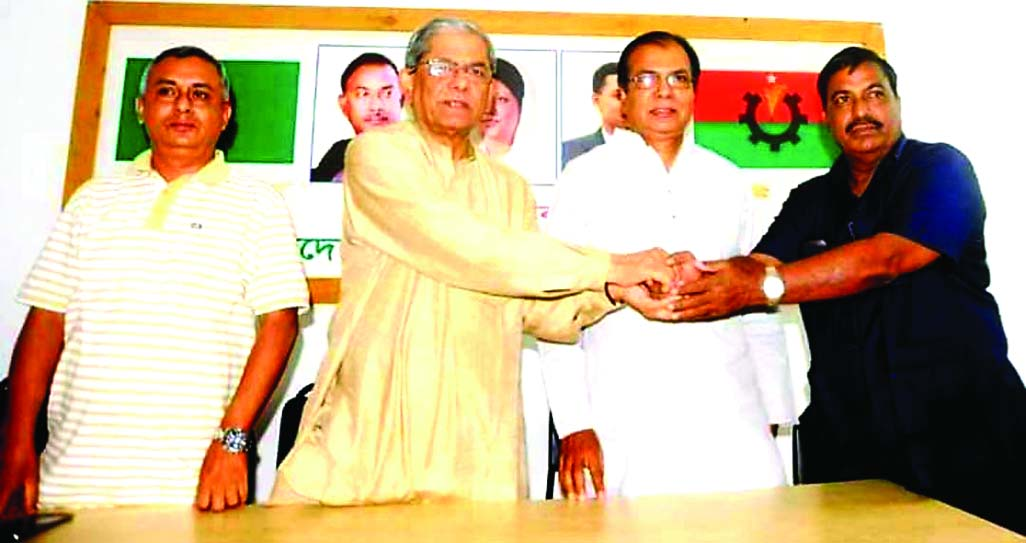 JALDHAKA(Nilphamari):  Upazila Chairman Alhaj Syed Ali joined BNP at a function recently. BNP Secretary General Mirza Fakhrul Islam Alamgir was present on the occasion.