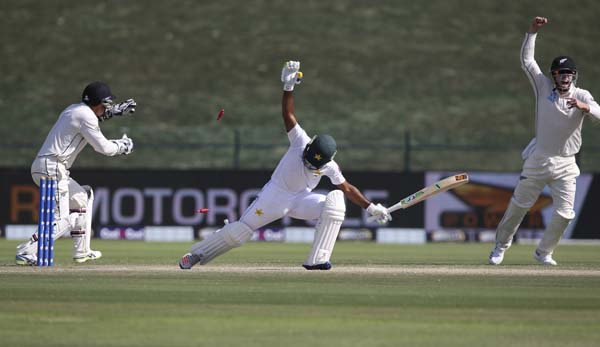 NZ records 4-run win in 1st Test against Pakistan