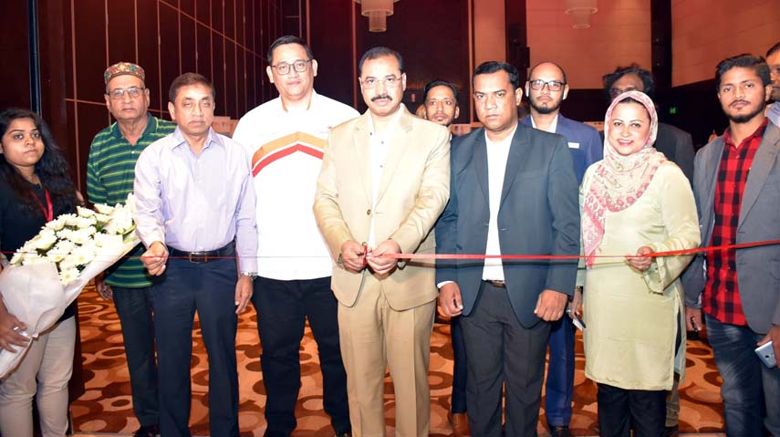 CCC Mayor A J M Nasir Uddin inaugurating Malaysian Education Fair at the Port City on Monday.