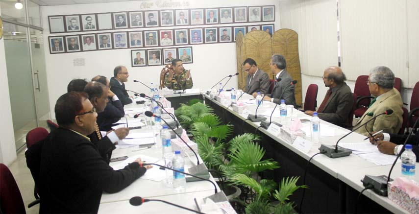Chairman of Bangladesh Tea Board Major General Mohammed Jahangir Al Mustahidur Rahman presided  over  the 86th board meeting  in Chittagong  at Conference Room of Cha Board on Wednesday.  Member (Research and Dev) Md. Golam Mowla, Member (Finance & Com.)Mohammed Irfan Shorif, Joint Secretary of Ministry of Commerce Mohammed Jafrul Islam Azizi, Additional Divisional Commissioner (Sylhet), Additional Divisional Commissioner (Rangpur Div) and Secretary of Tea Board Mohammed Nurullah Nuri, Chairman of Bangladesh  Tea Association  Ardasir Kabir, Chairman of Tea Traders Association Santunu Biswas also attended the meeting.