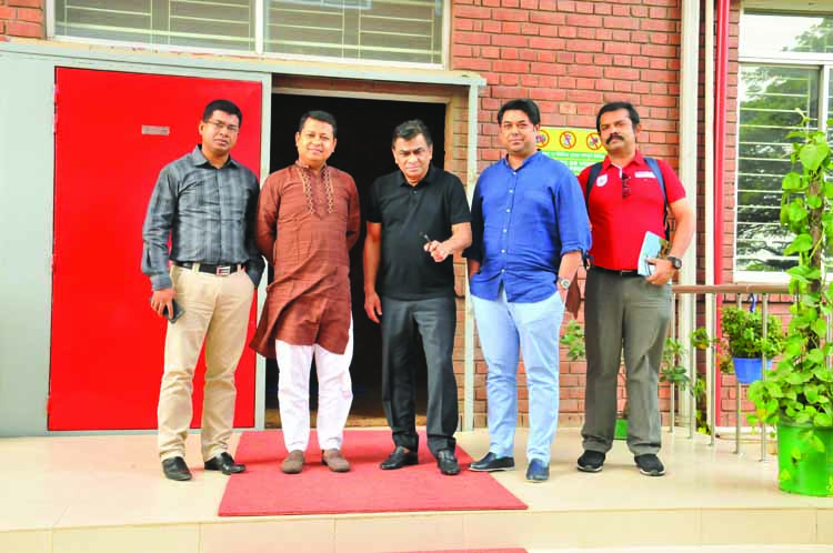 President of Bangladesh Football Federation Kazi Salahuddin (center) inspected  Fortis Sports Ground in the city's Beraid on Friday. Fortis Sports Ground and its related area will be a Football Academy soon.
