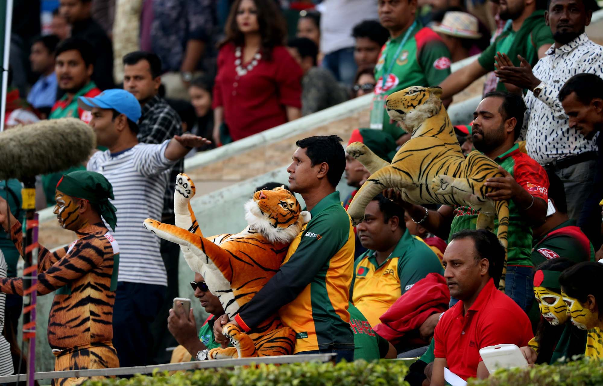 A good number of spectators arrived at the galleries to watch the first One Day International match between Bangladesh and West Indies at the Sher-e-Bangla National Cricket Stadium in the city's Mirpur on Sunday.