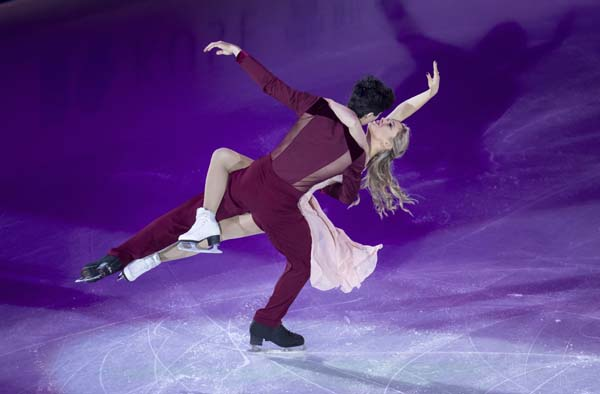 Canada's Zachary Lagha and Marjorie Lajoie perform during the gala exhibition at figure skating's Grand Prix in Vancouver, British Columbia on Sunday.