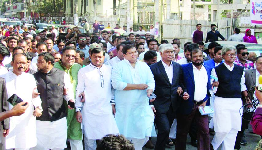 GAZIPUR: A rally was brought out by Gazipur  City Awami League  with a call to vote for 'Boat' on Monday. Among others, MP candidate Jahid Ahsan Rasel  and GCC Mayor Adv Md Jahangir Alam were present in the rally on Monday.