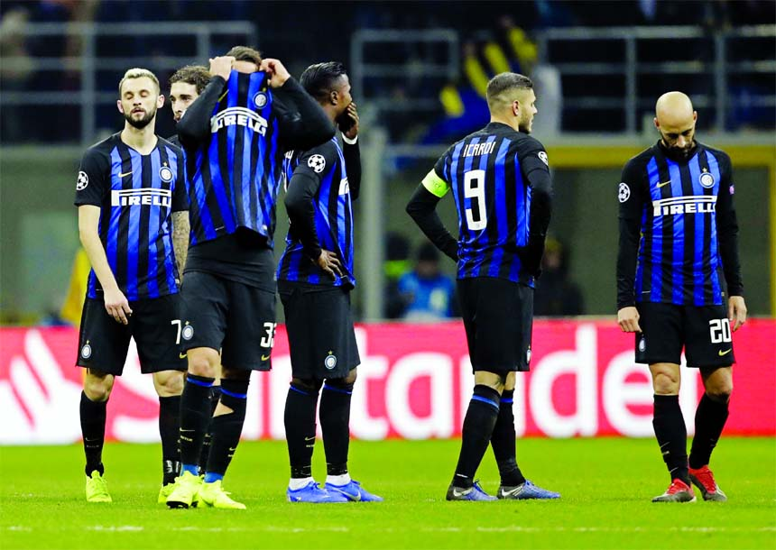 Inter out of Champions League despite 1-1 draw against PSV