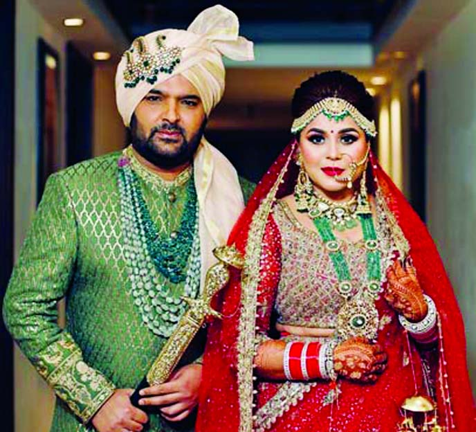 Kapil Sharma - Ginni Chatrath look regal at their wedding