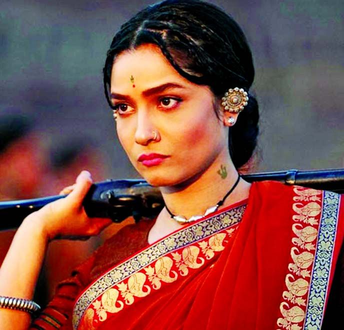 Ankita Lokhande as Jhalkari Bai in Manikarnika looks fierce