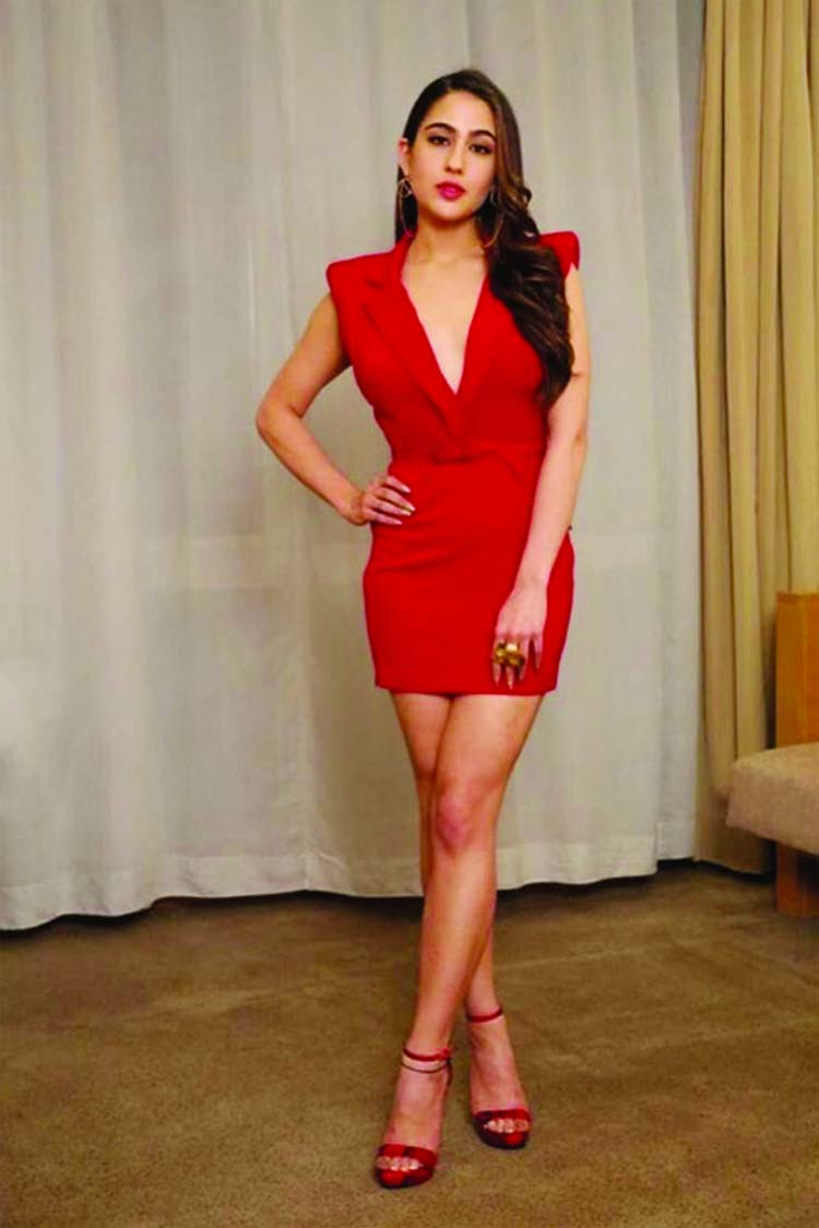 Sara Ali Khan is elegance personified in classy red dress
