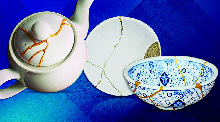 Kintsugi, an art form that the people in Japan follow, is an unusually beautiful practice in which they repair broken pottery pieces and put them back together, lending it a unique look. The idea behind this practice is to create something new out of broken things