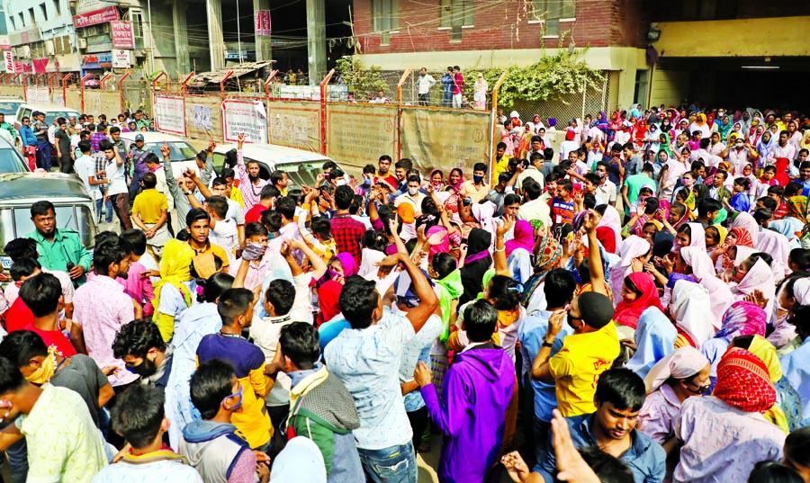 Agitation in Savar, Ashulia, Dhaka, 40 hurt in clashes, 20 more units shut