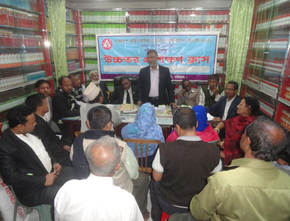 Former Divisional govt member of Bangladesh Homeopathic Board  and Editor of Homoeo Chetona Dr. Saleh addressing the seminar as Chief Guest recently .